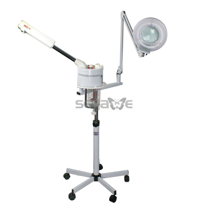 Pro 2in 1 Spa Ozone Facial Steamer Salon 5x Magnifying Mag