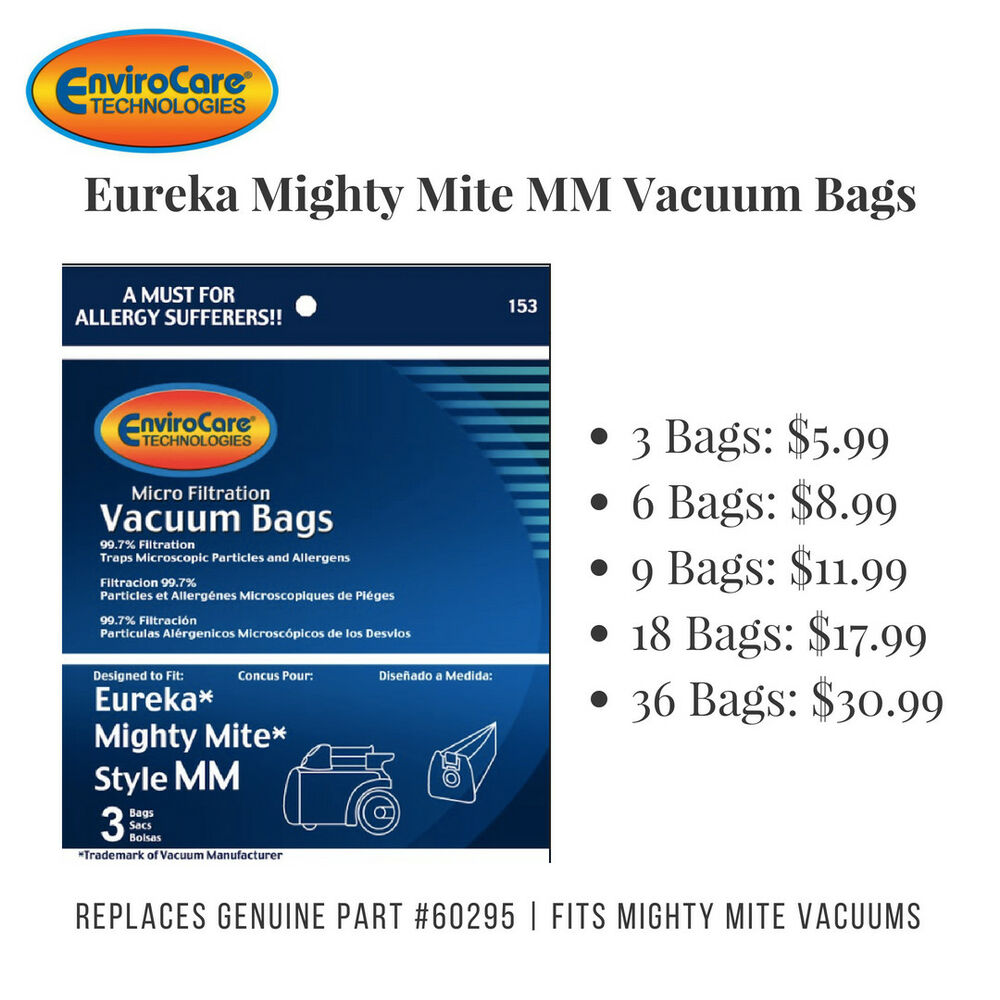 Eureka Mm Vacuum Bags Fits Mighty Mite Vacuums Replaces