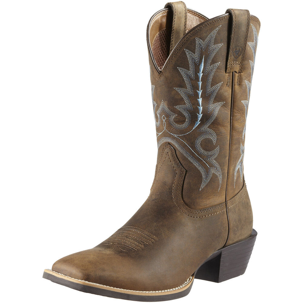 mens ariat st outfitter 10011801 wide square toe brown