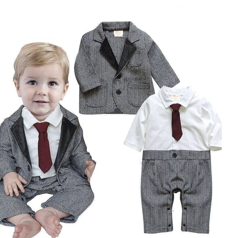 Baby Kids Boys Wedding Formal Dressy Party Tuxedo Suit
