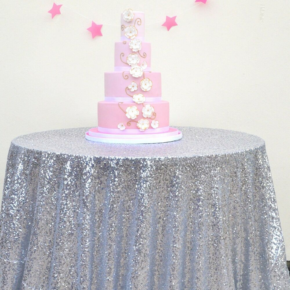 SILVER SEQUIN TABLECLOTH, Silver Wedding Tablecloth ...