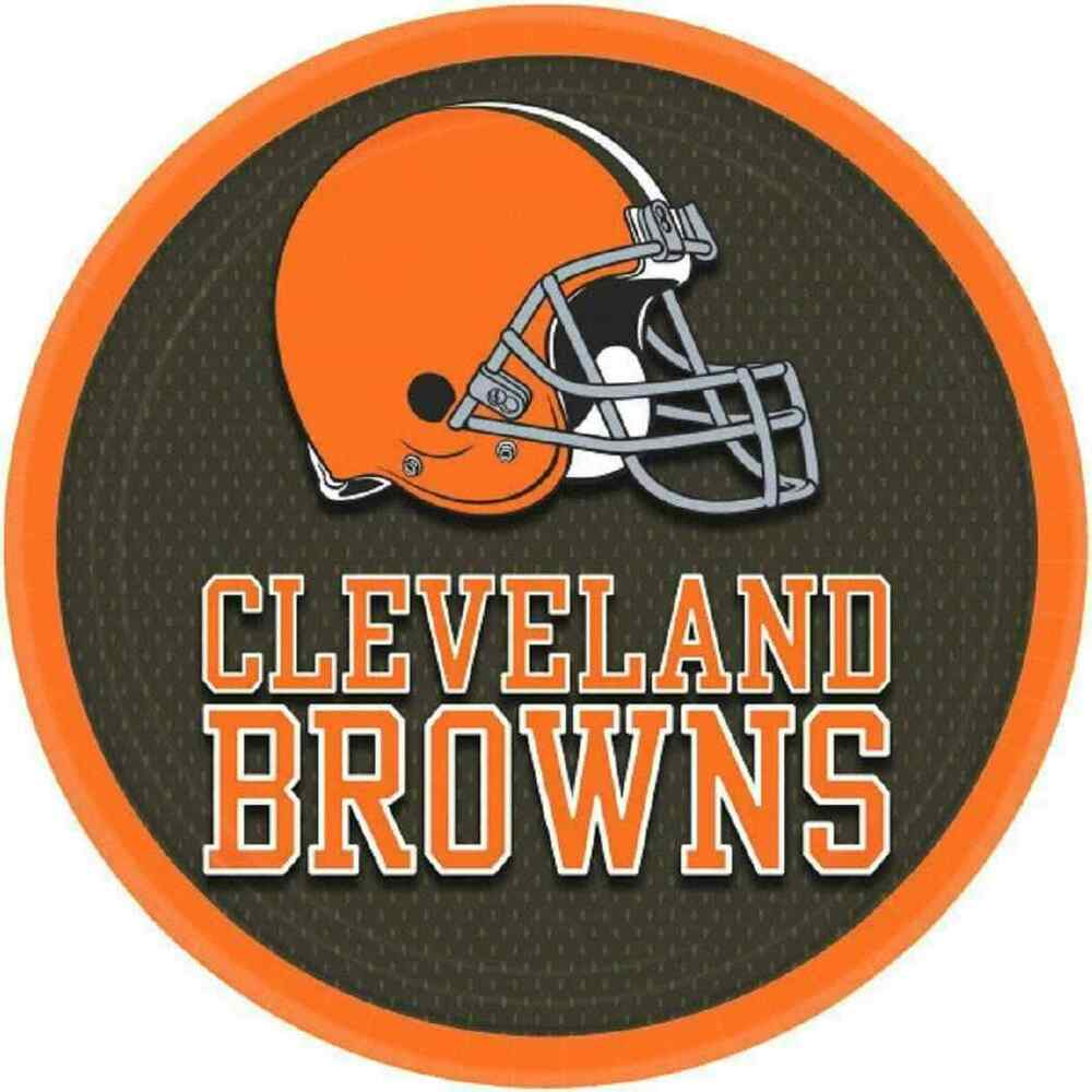 "Cleveland Browns NFL Pro Football Sports Banquet Party 9"" Paper Dinner ..."