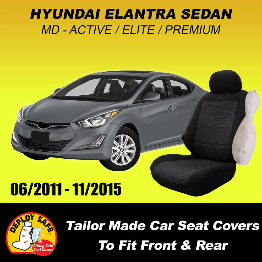 Car Seat Covers Hyundai Elantra Active Elite Premium 06 2011 Current Airbag Safe Ebay
