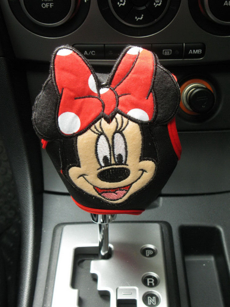 Minnie Mouse Disney Car Accessory Red Automatic Shift