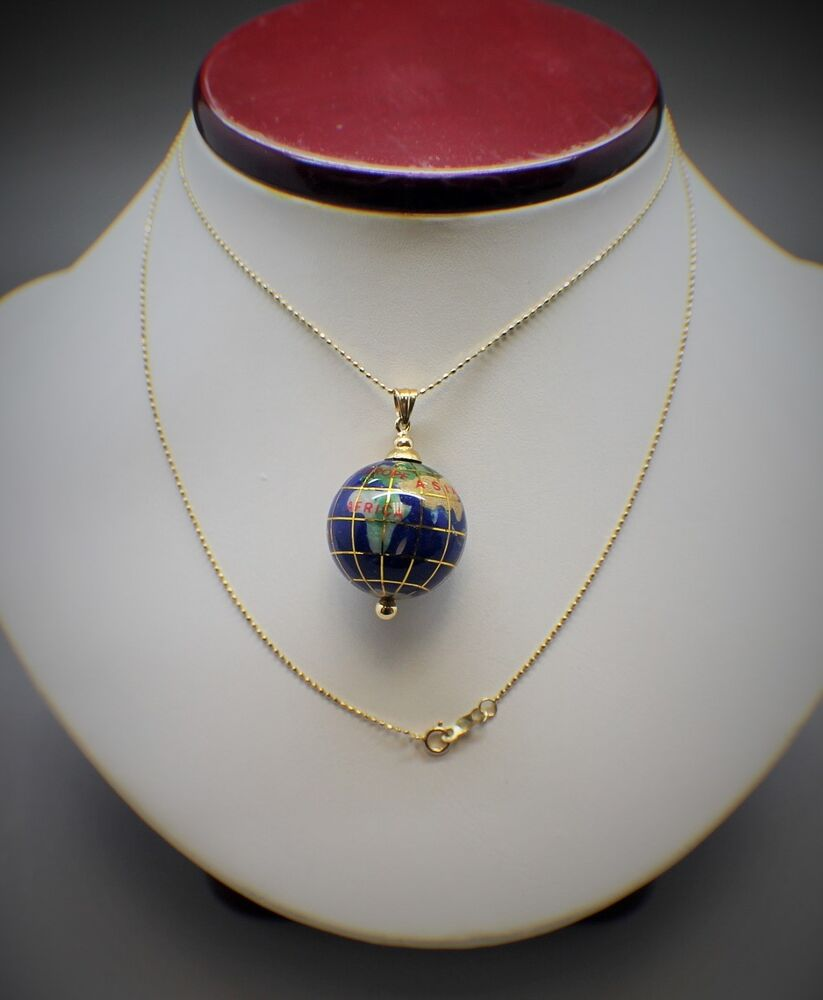 14k Gold Lapis 3d Globe Enamel Charm Pendant 24' Necklace. Fire Opal Pendant. Rhodium Plated Earrings. Australian Sapphire. Engagement Ring And Wedding Ring. Bezel Set Earrings. Leaf Design Engagement Rings. Round Engagement Rings. Tri Bands