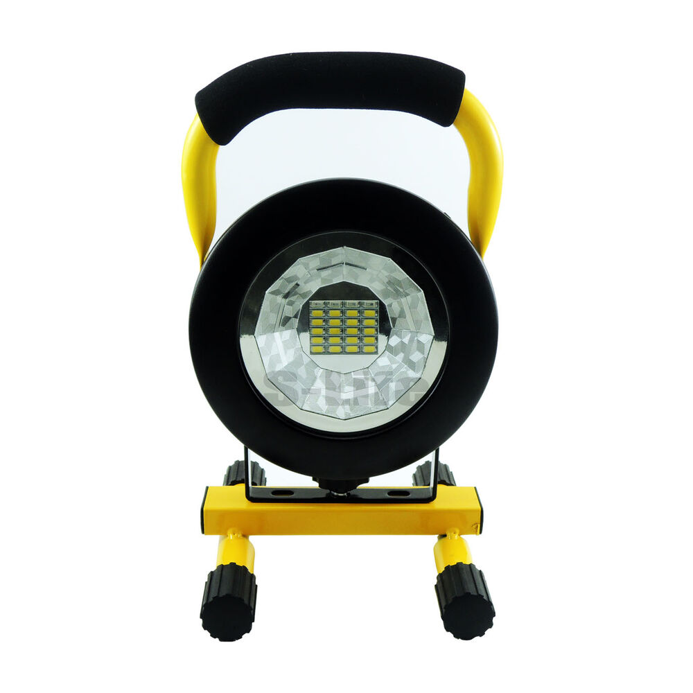 Led Flood Light Rechargeable 20w: 20W Round Portable Hi Power White LED Work Light