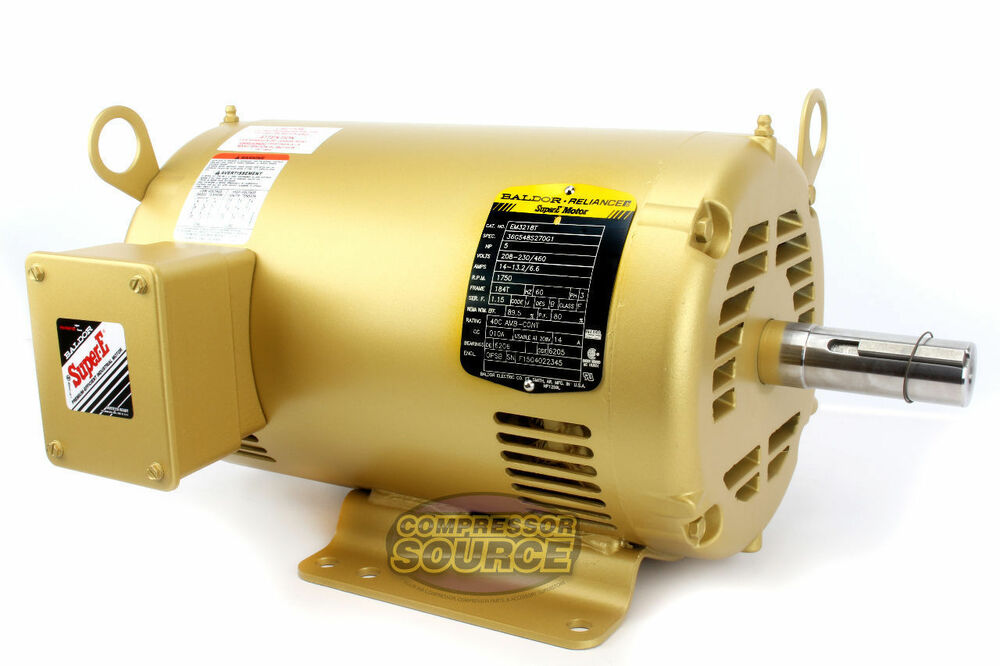 5 hp 3 ph three phase electric motor em3218t baldor 1750
