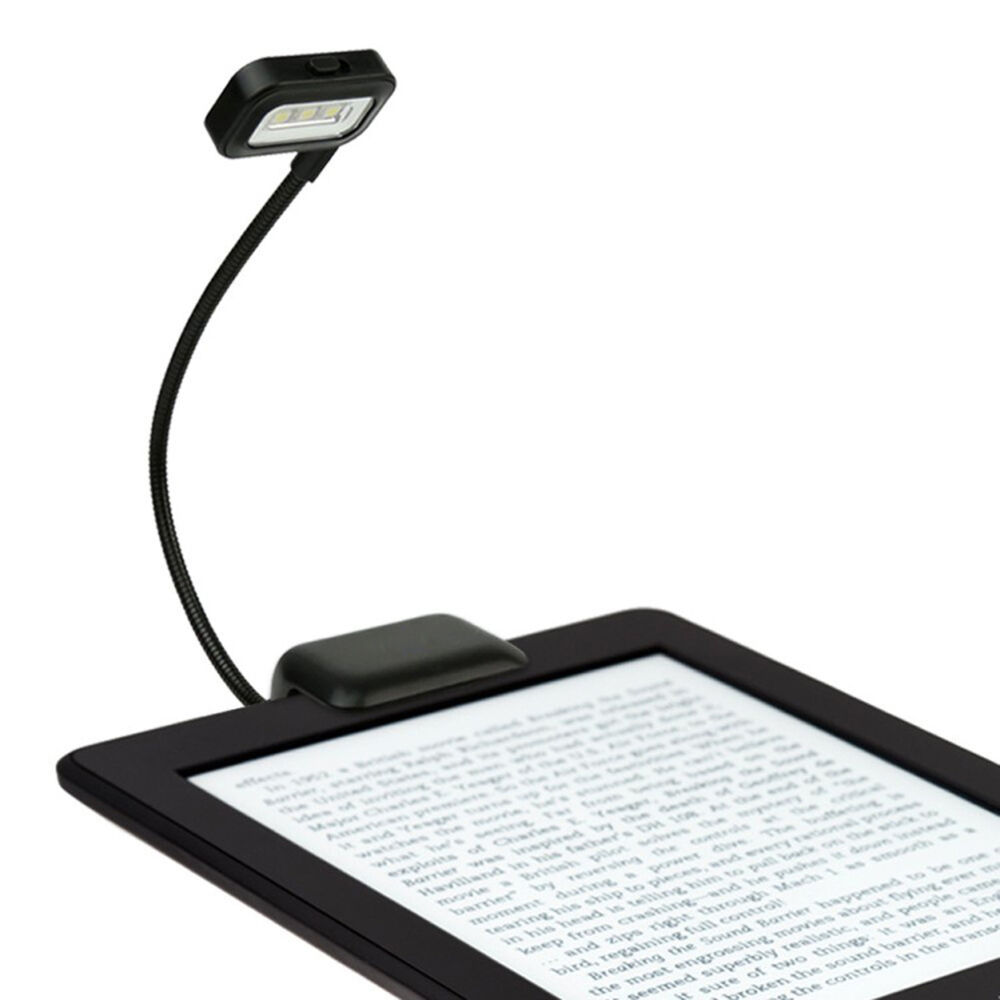 led clip on desk lamp for reading kindle laptop desktop notebook ebook booklight ebay. Black Bedroom Furniture Sets. Home Design Ideas