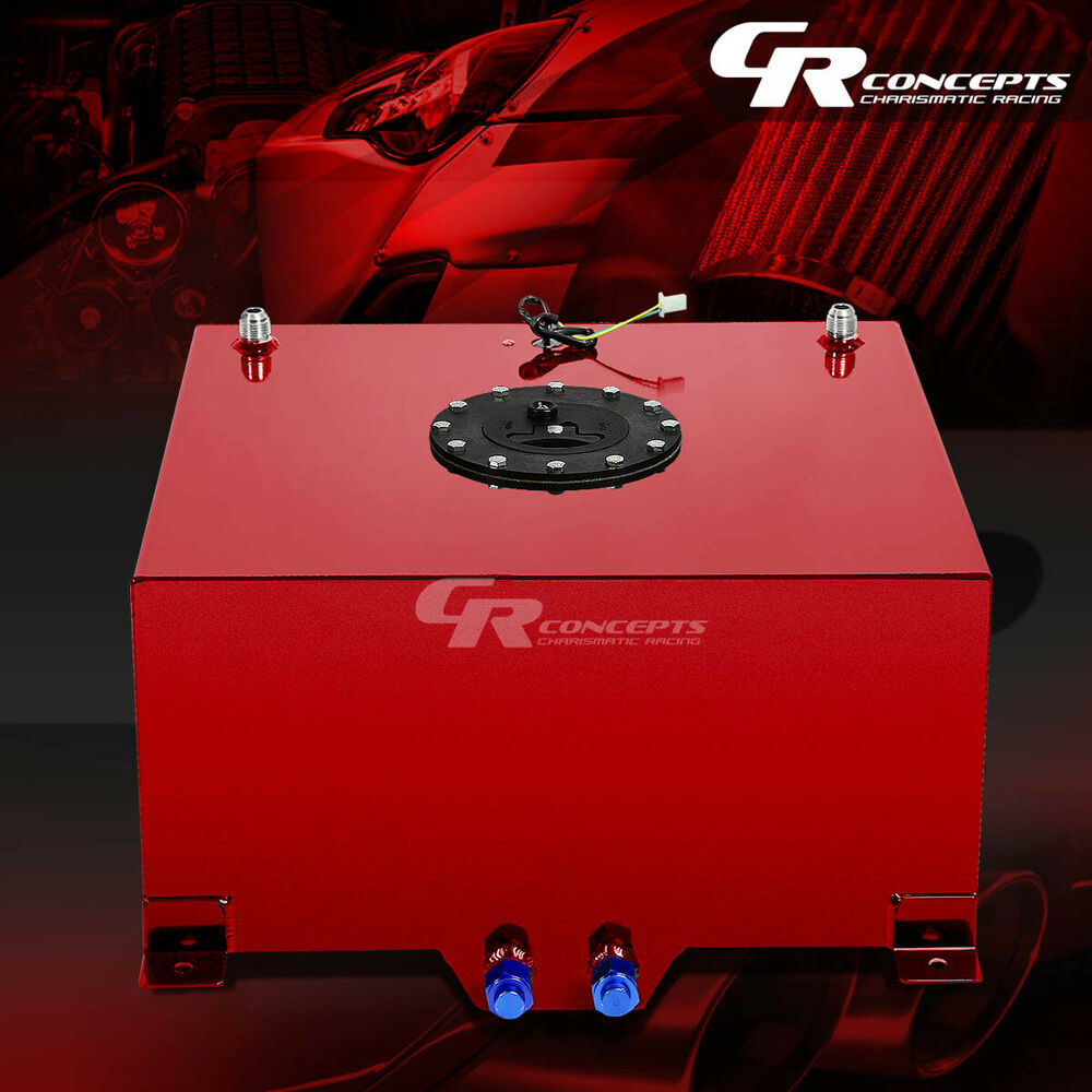 10 Gallon Red Coated Universal Racing Drifting Fuel Cell