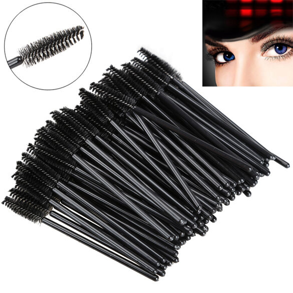 100pcs disposable eyelash brush mascara wands applicator for Mascara with comb wand