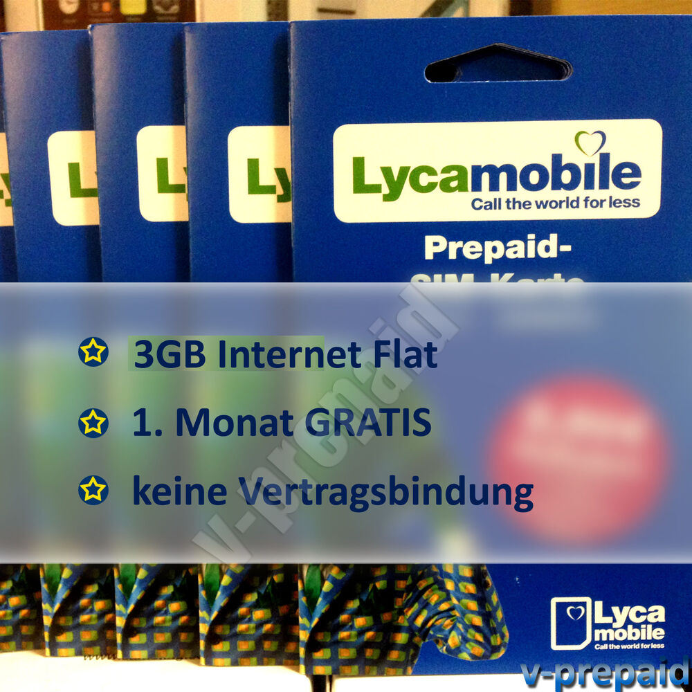 lycamobile prepaid sim karte 3gb internet flat wie lebara. Black Bedroom Furniture Sets. Home Design Ideas