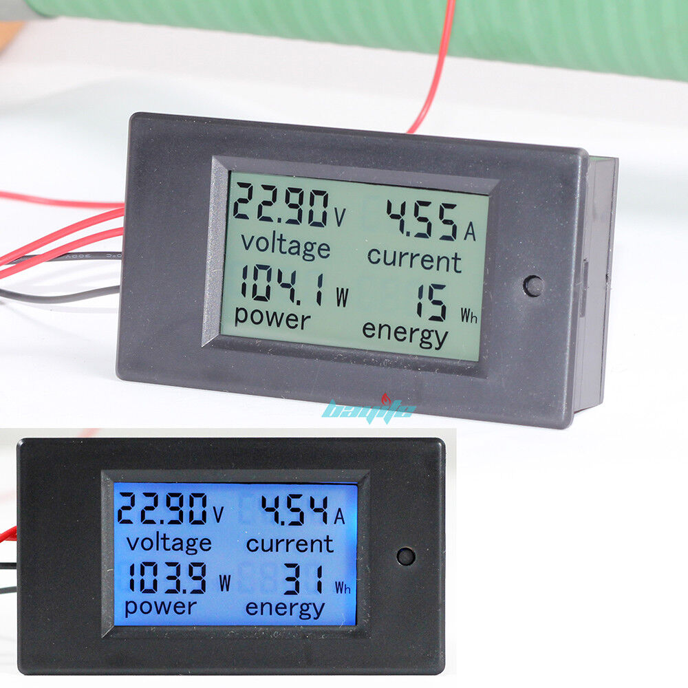 Dc Current Meter : Dc a v lcd digital watt current power voltage