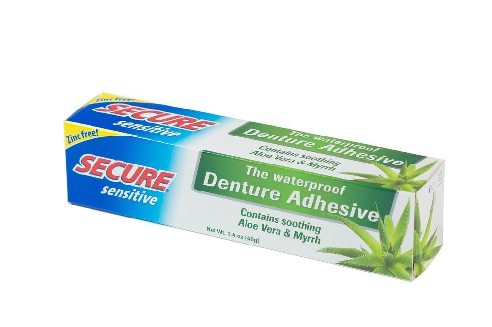 Secure Denture Adhesive >> Secure Sensitive Denture Bonding Cream 40g | eBay