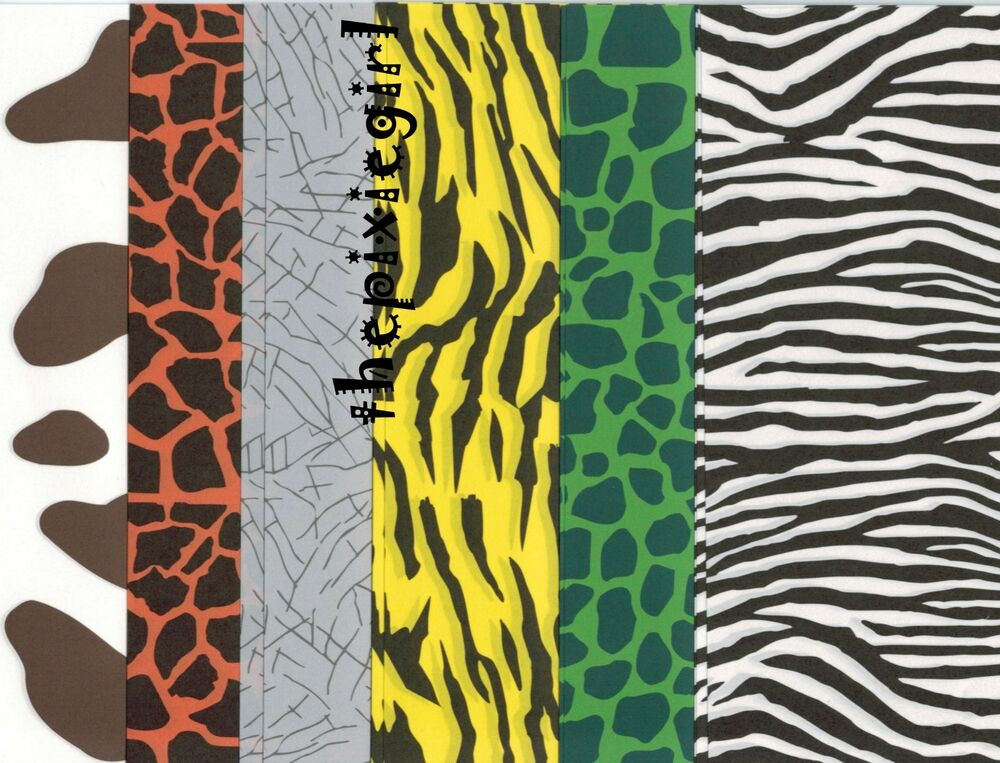 ORIGAMI PAPER JAPANESE 24 SHEETS 6 DIFFERENT ANIMAL PRINTS ...