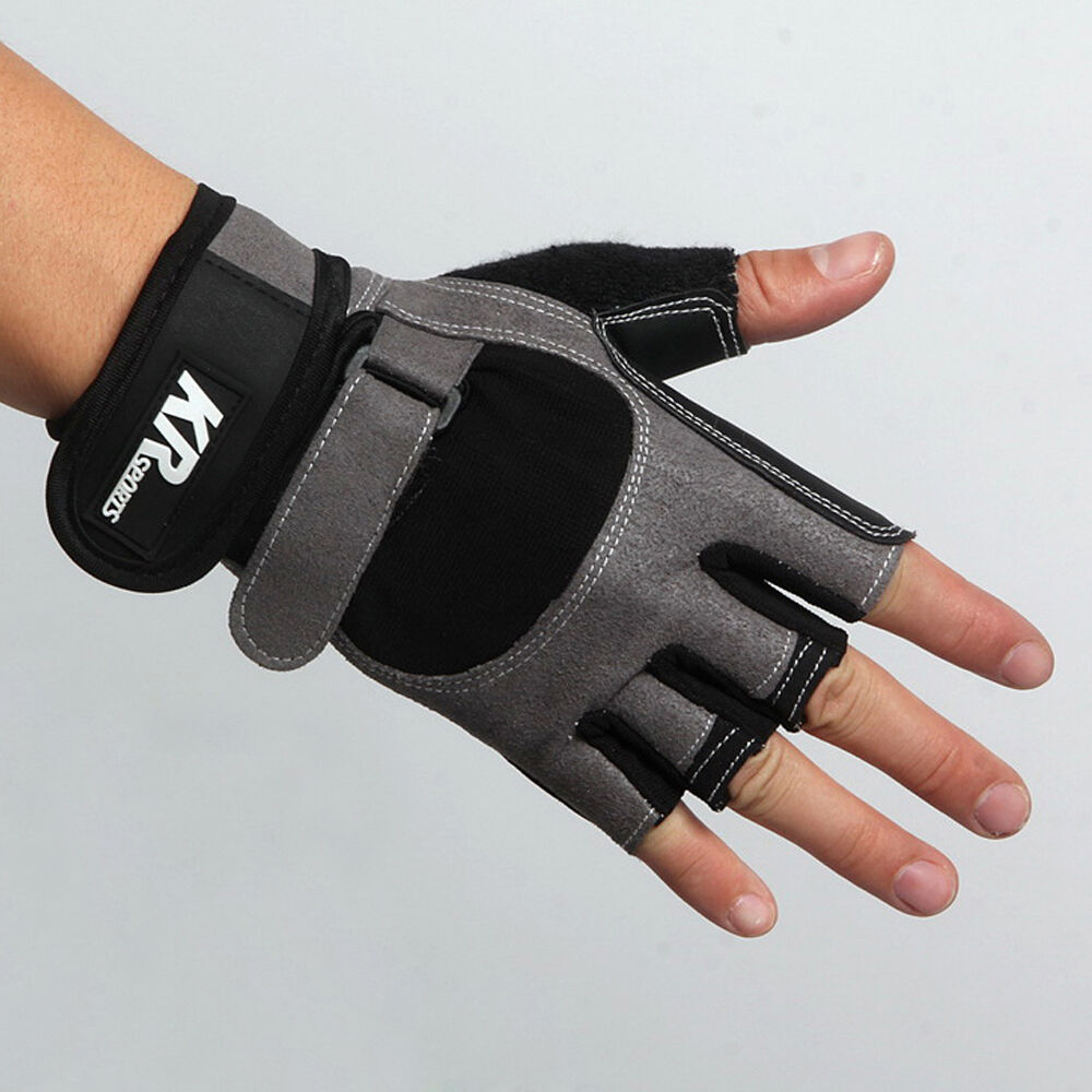 Weight Lifting Gym Gloves Training Fitness Wrist Wrap: Weight Lifting Gym Gloves Workout Wrist Wrap Sports