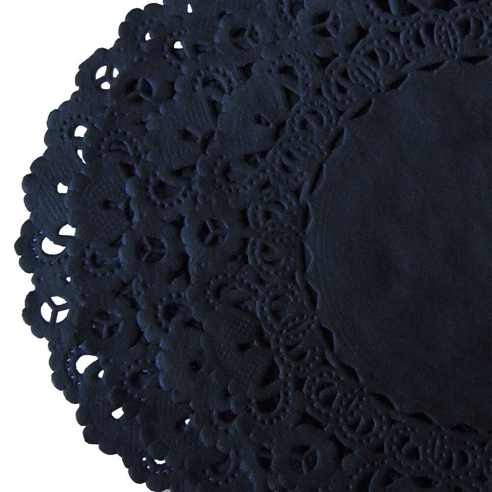 Black hand dyed lace paper doilies 4 quot 6 quot 8 quot 10 quot 12 quot party craft