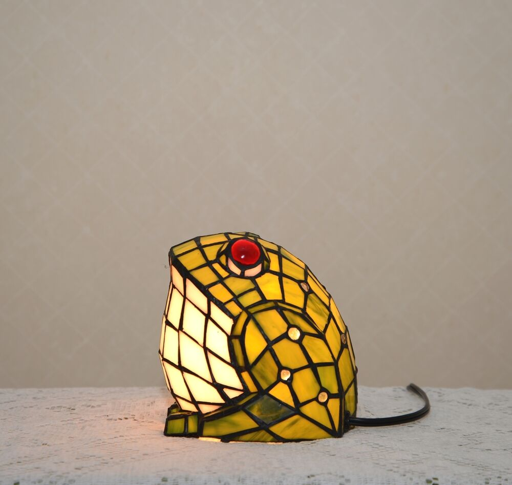 A Big Fat Frog Stained Glass Tiffany Style Night Light