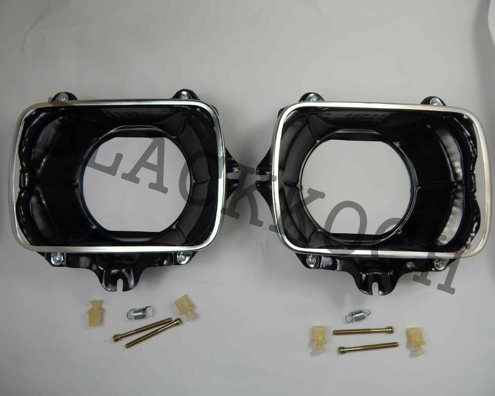 Pair Headlight Bucket For 83 97 Toyota Hilux Ln85 Ln106