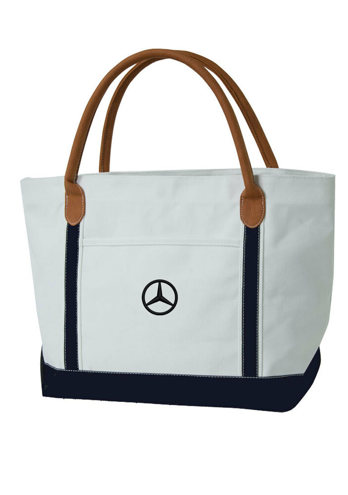 mercedes benz nautical style canvas beach tote bag ebay