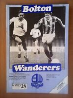 BOLTON WANDERERS V MANSFIELD TOWN 1984-85