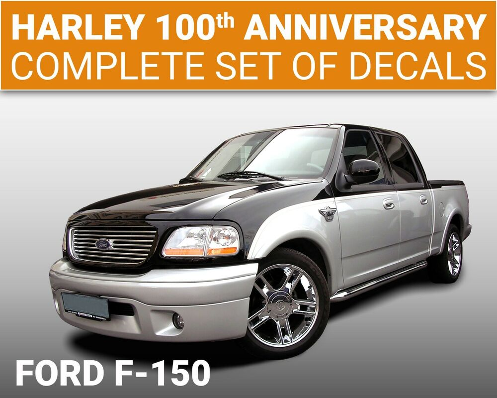 ford f150 harley davidson edition 2003 anniversary decals 501 ebay. Black Bedroom Furniture Sets. Home Design Ideas