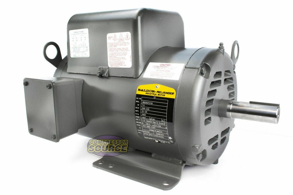 Baldor 7 5 hp electric motor 3450 rpm 184 t frame 1 ph for 450 hp electric motor