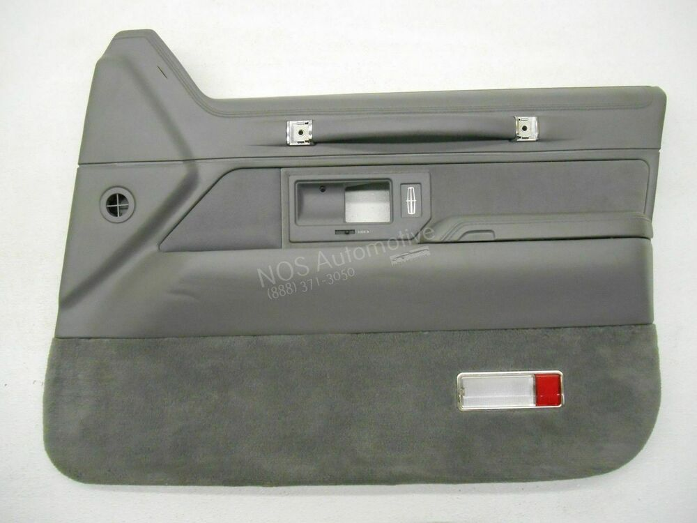 Nos new oem 1993 1994 lincoln town car right grey interior - Lincoln town car interior door parts ...