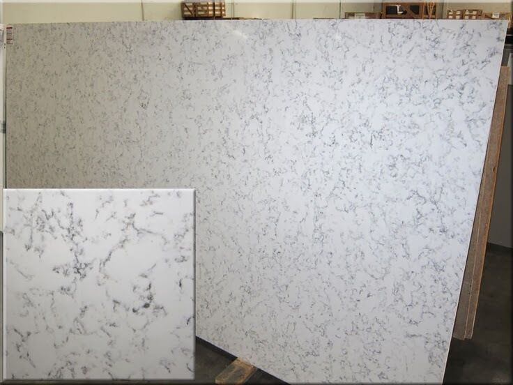 Silestone Alpine White Quartz Kitchen Countertop