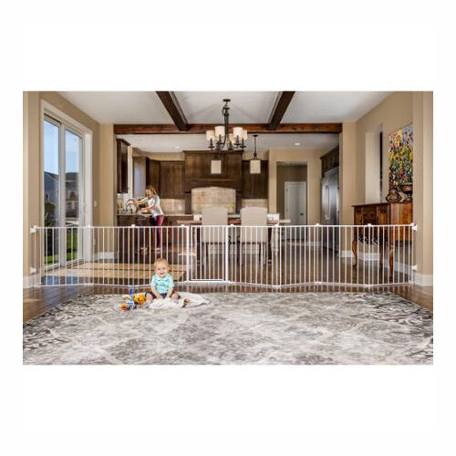 Baby Pet Dog Extra Wide Safety Metal Gate Play Yard Indoor