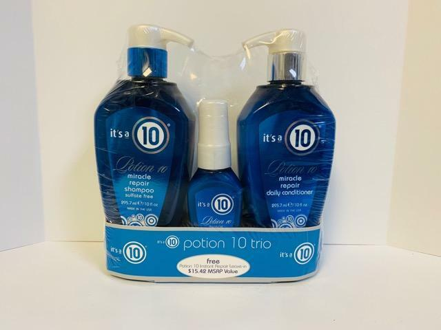 it 39 s its a 10 potion 10 miracle repair shampoo conditioner leave in spray set ebay. Black Bedroom Furniture Sets. Home Design Ideas