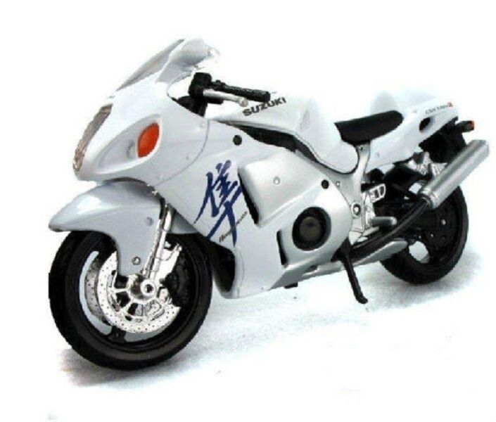 Maisto 1 12 Suzuki Gsx 1300r White Motorcycle Bike Diecast Model Toy Gift Ebay