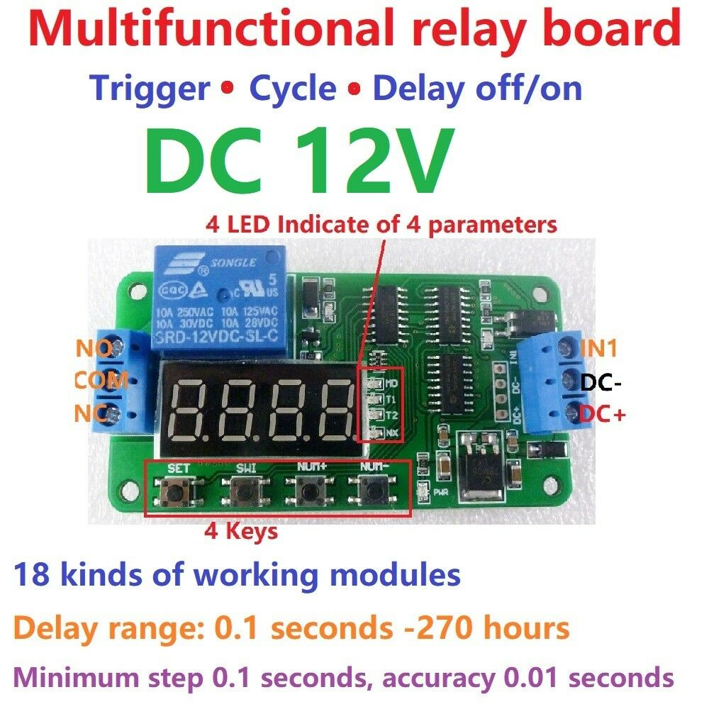 S L on Arduino Relay Module 12v
