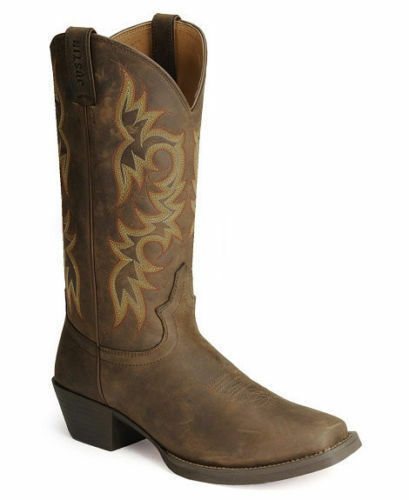 2mens Justin Sorrel Apache Cowboy Western Boots Brown W