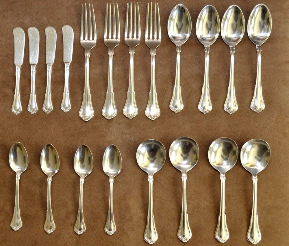 Antique Gorham Sterling Silver 20 Pieces Set of Four ...