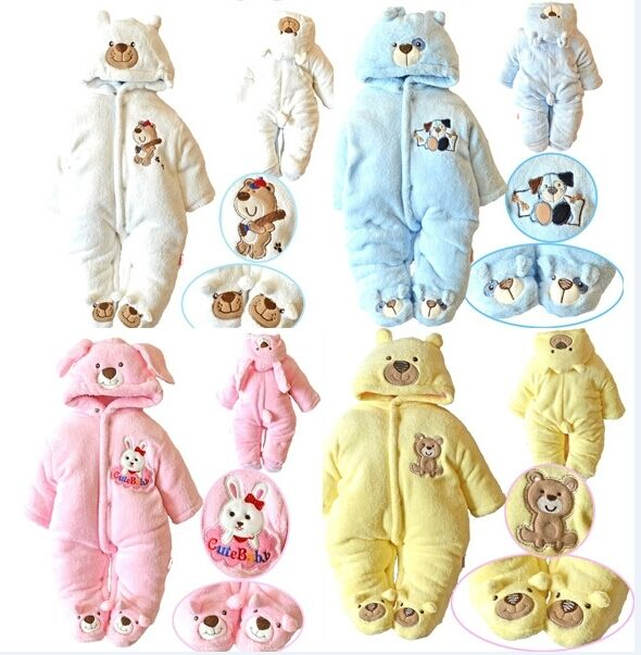 newborn baby boy girl warm clothes cartoon romper winter outwear sets outfits ebay. Black Bedroom Furniture Sets. Home Design Ideas