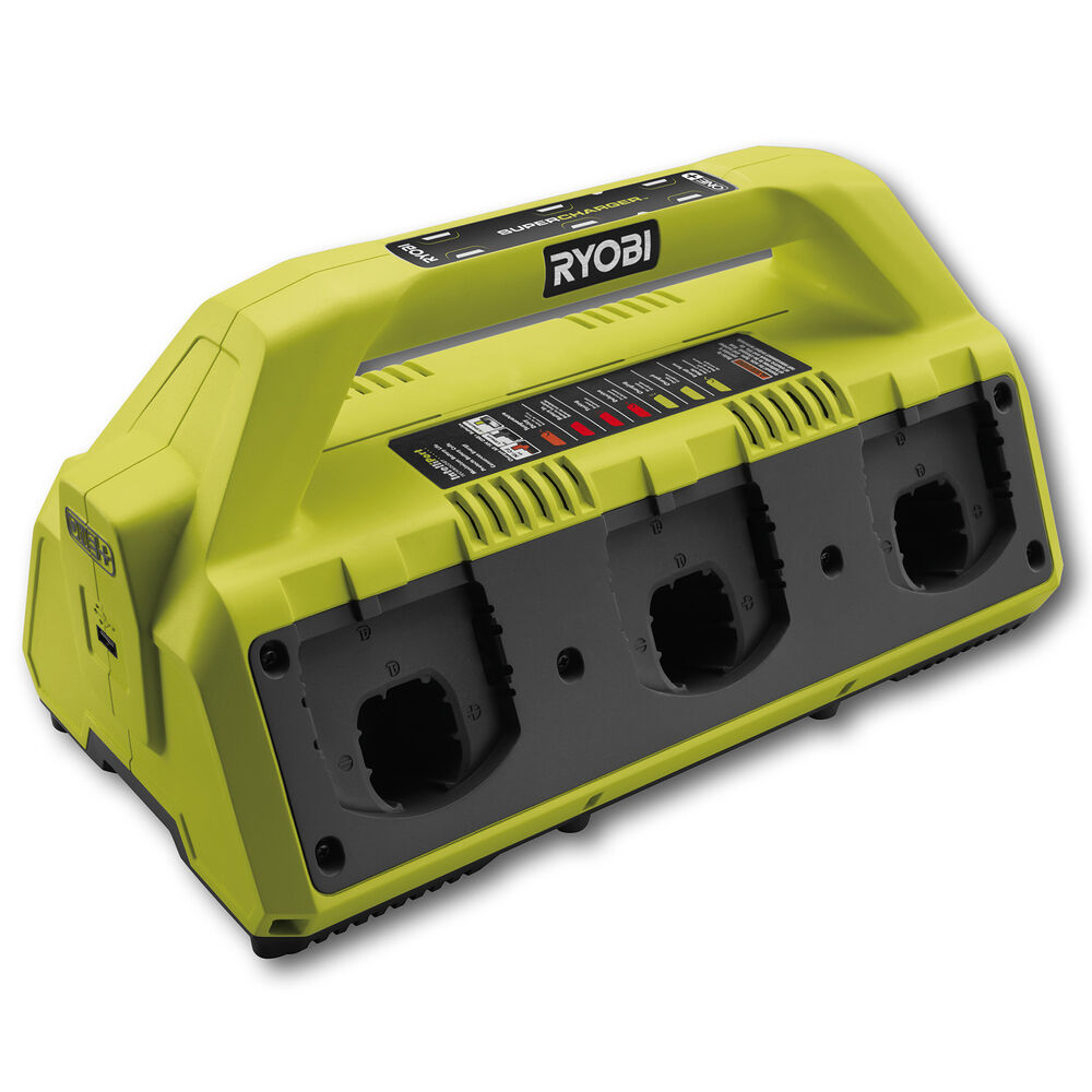 Ryobi One 18v 6 Port Dual Chem Battery Charger No