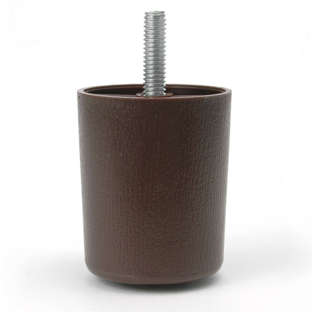 Leg Daddy 2 3 8 Brown Tapered Cylindrical Hdpe Plastic