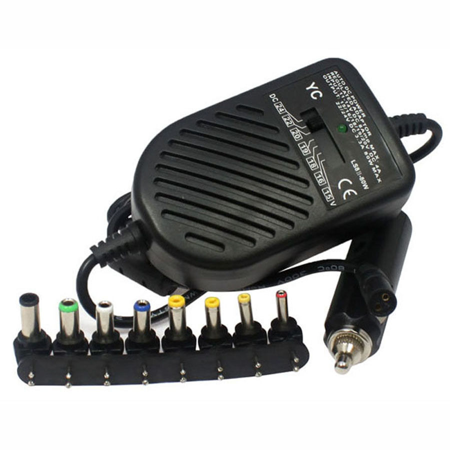 Universal 12v Car Dc Battery Charger Adapter For Notebook