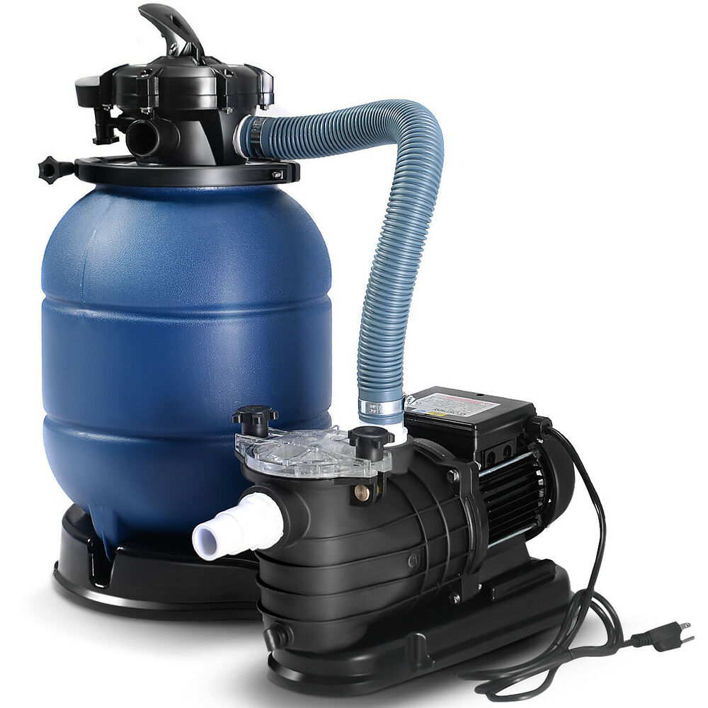 New pro 2400gph 13 sand filter above ground 10000gal swimming pool pump goplus ebay for Swimming pool pumps for above ground pools