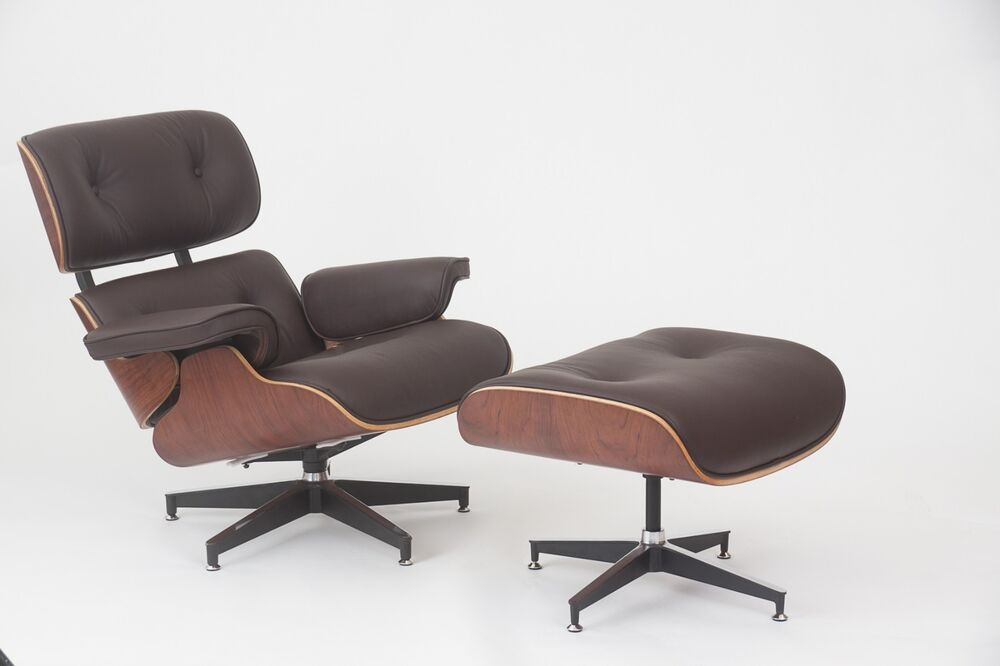 Eames Style Walnut Lounge Chair and Ottoman Set in Brown  : s l1000 from www.ebay.com size 1000 x 666 jpeg 34kB