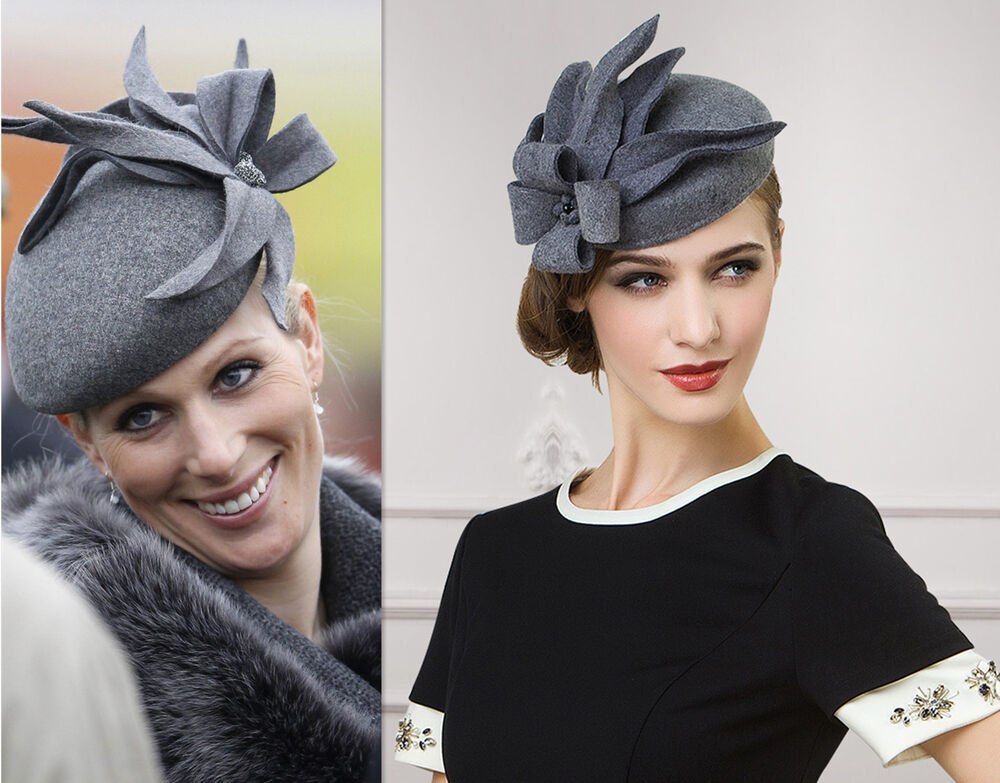 Ladies Felt Wool Fascinator Cocktail Formal Race