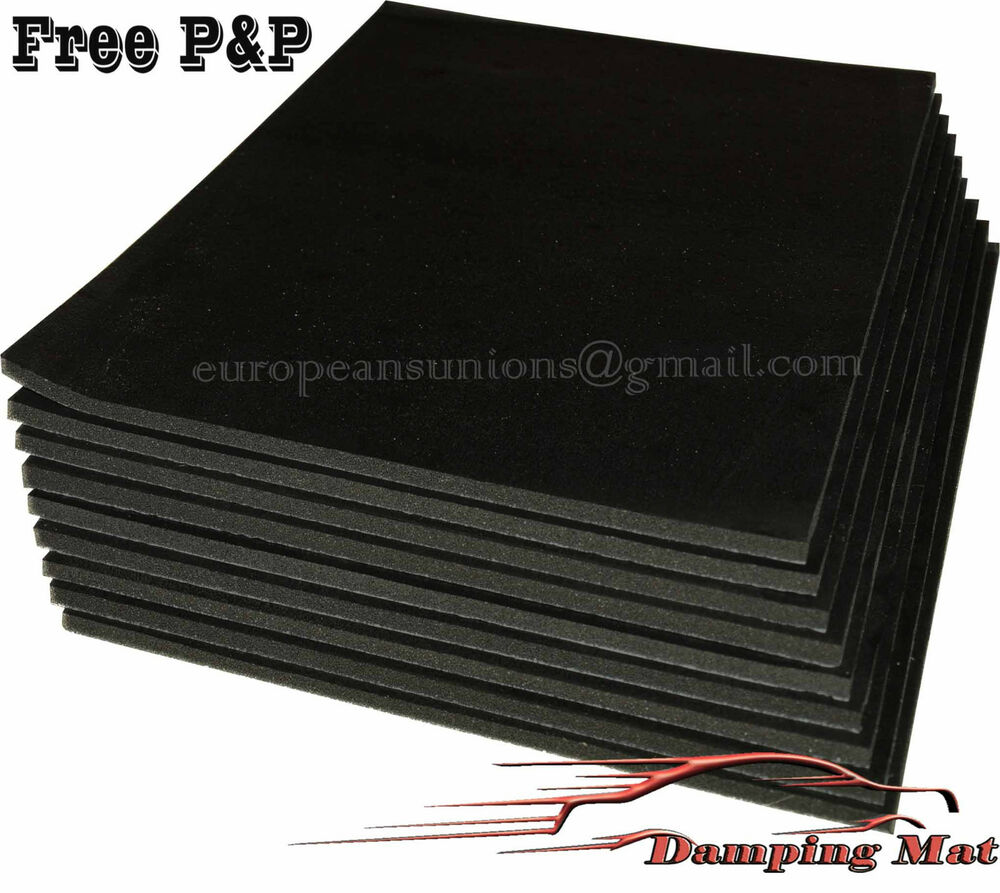 9 X Sheets Car Vehicle Sound Deadening Insulation Proofing