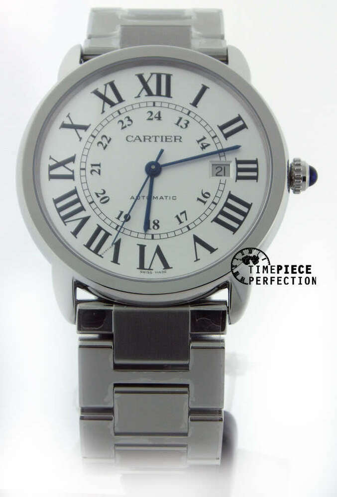 cartier ronde mens stainless mens w6701011 42mm