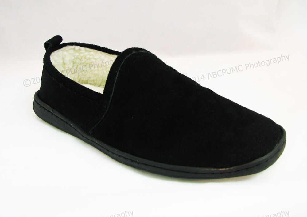 Suede House Shoes Men