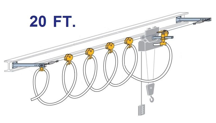 conductix round cable stretch wire festoon kit  20 foot