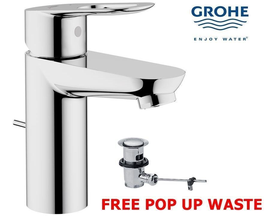 grohe bauloop modern mono basin bath bathroom sink mixer. Black Bedroom Furniture Sets. Home Design Ideas