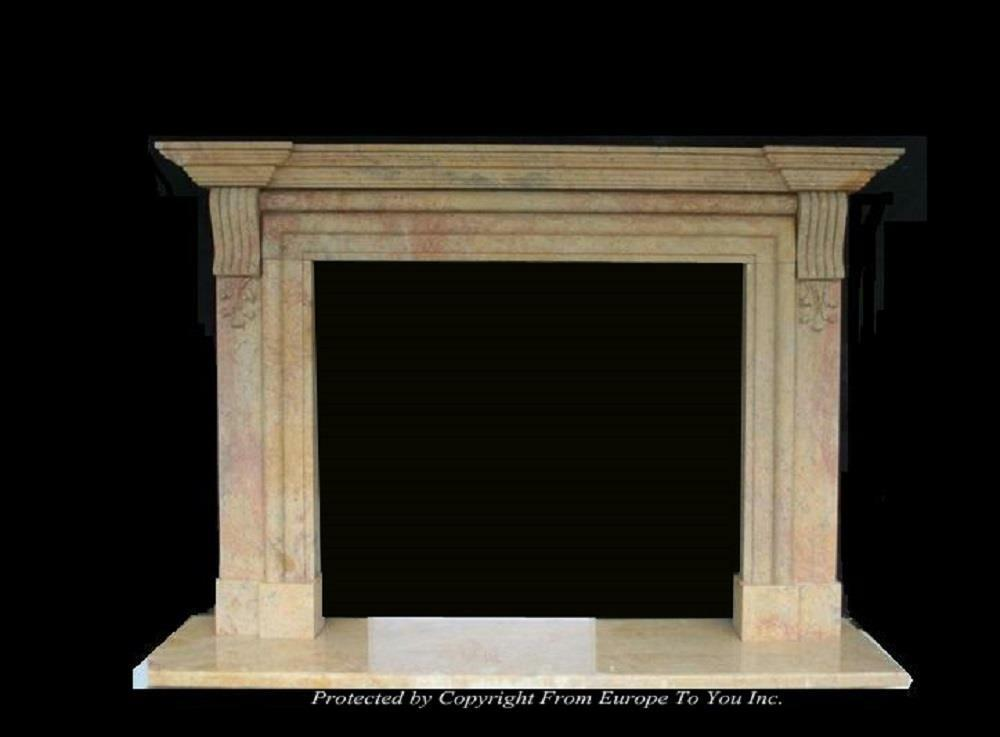 Beautiful Hand Carved Marble Estate Fireplace Mantel Jd57 Ebay