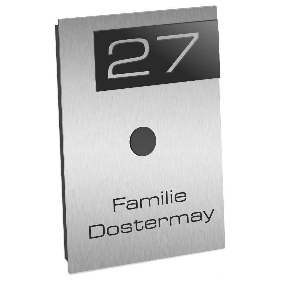 edelstahl briefkastenschild t rschild namensschild klingelschild gravur jl ebay. Black Bedroom Furniture Sets. Home Design Ideas