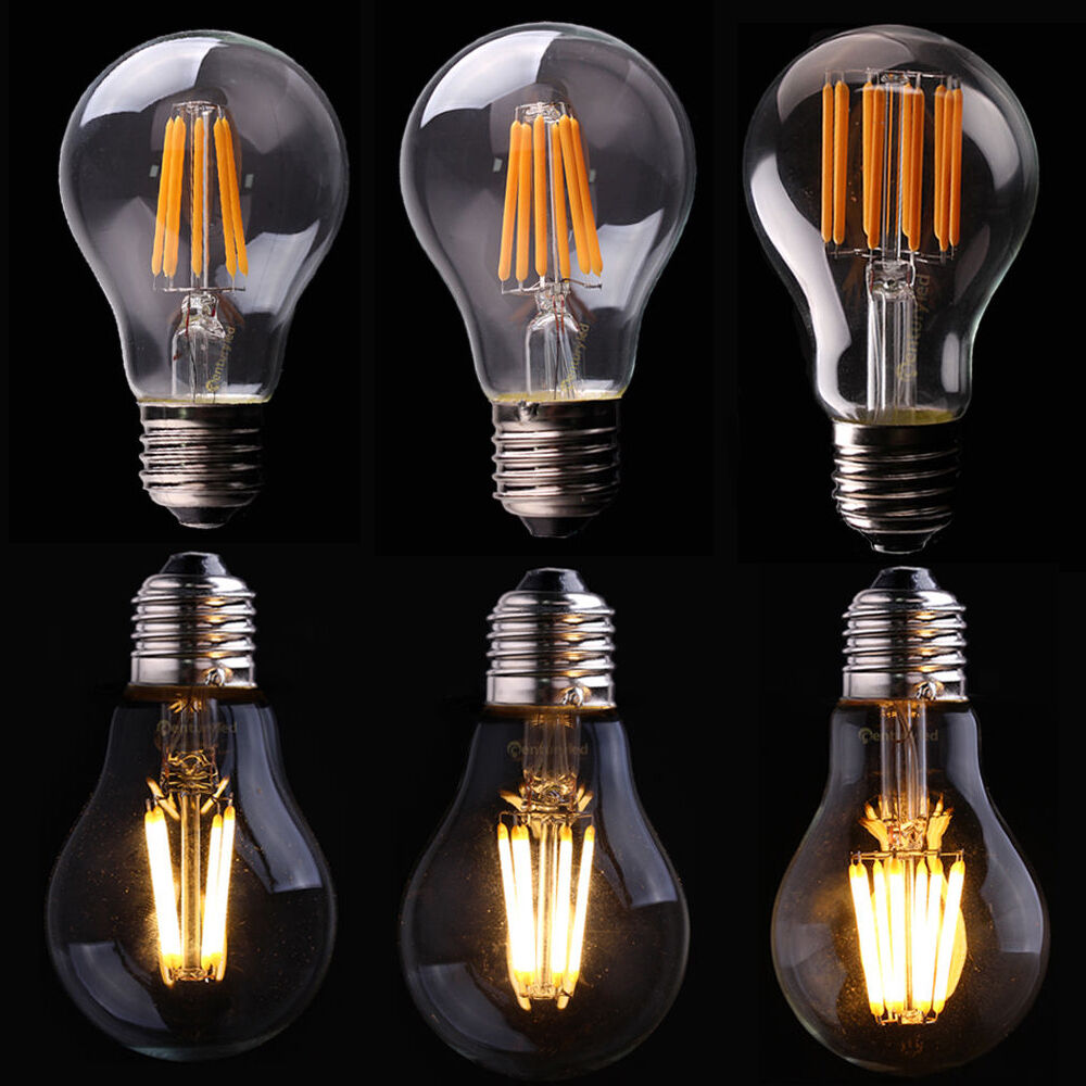 E27 Retro Bulb LED Light COB Edison Filament dimmable Lamp ...