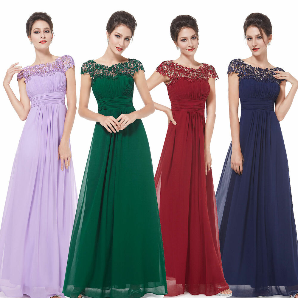 Long maxi evening bridesmaid formal party prom dress gown for Prom dresses that look like wedding dresses